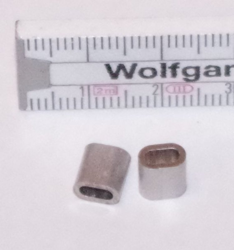 Quetschhülse für 2mm Seil